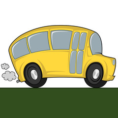 Funny illustration of a (school) bus