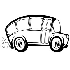 Silhouette illustration of a (school) bus