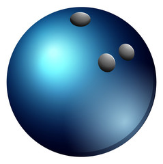 Bowling ball in blue color