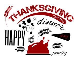Happy Thanksgiving Day banne