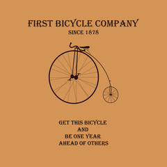 Old bicycle company logo