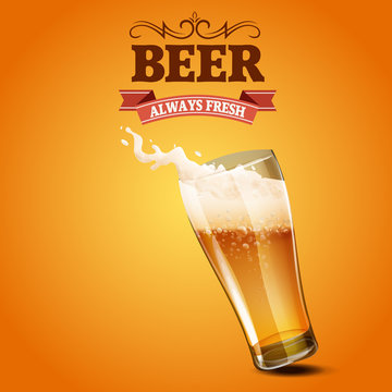 beer always fresh glass