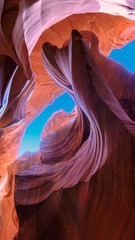The Magic Antelope Canyon in the Navajo Reservation, Arizona