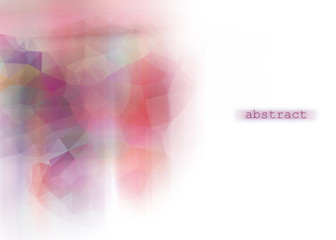 abstract background with colored triangles