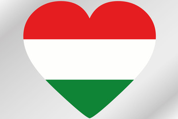 Flag Illustration of a heart with the flag of  Hungary
