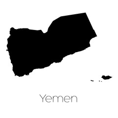 Country Shape isolated on background of the country of Yemen