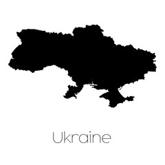 Country Shape isolated on background of the country of Ukraine