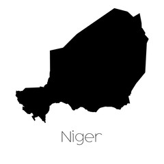 Country Shape isolated on background of the country of Niger