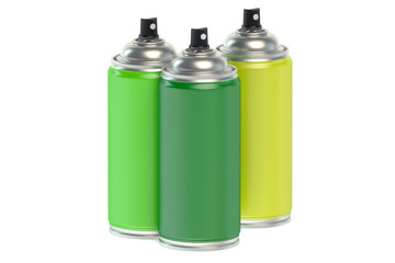 Colour spray paint cans
