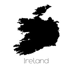 Country Shape isolated on background of the country of Ireland