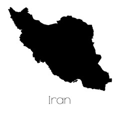 Country Shape isolated on background of the country of Iran