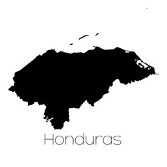 Country Shape isolated on background of the country of Honduras