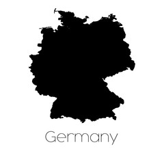Country Shape isolated on background of the country of Germany