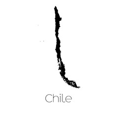 Country Shape isolated on background of the country of Chile
