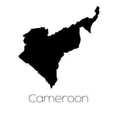 Country Shape isolated on background of the country of Cameroon