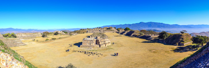 Monte Alban - ruins of the Zapotec city in Mexico