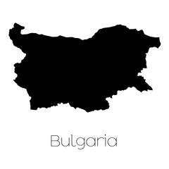 Country Shape isolated on background of the country of Bulgaria