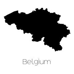 Country Shape isolated on background of the country of Belgium