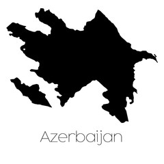 Country Shape isolated on background of the country of Azerbaija