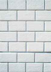 Background of empty white brick wall