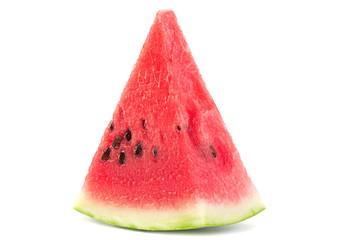 Watermelon fruit slice closeup