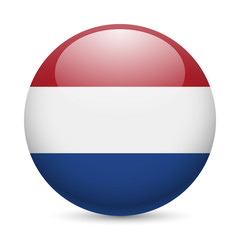 Round glossy icon of Netherlands