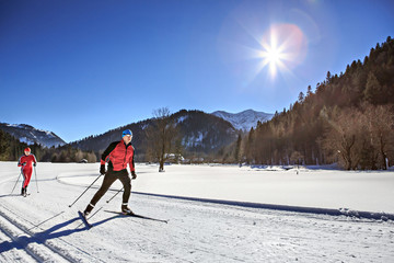 cross-country skiers