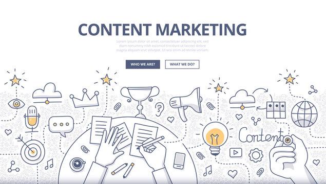 Content Marketing Doodle Concept