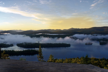 Sunrise From the Top of Castle Rock in the Adirondack Mountains of Upstate New York