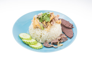 Thai food fast food, Steam Chicken with Rice