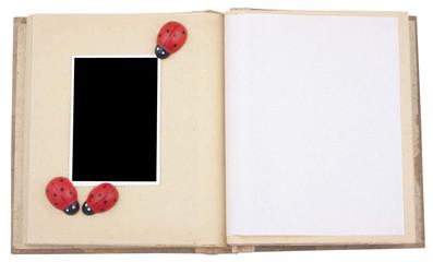 Photo album with photo frame