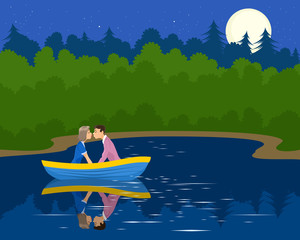 Couple in the boat