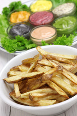 french fries with  assorted mayonnaise sauce