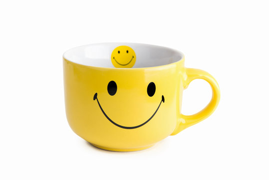 Yellow cup with a smile