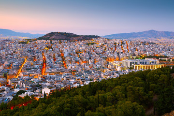 Printed kitchen splashbacks Athens View of Athens from Lycabettus Hill, Greece.