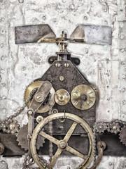 Detail of an ancient church clock