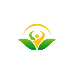 people organic botany vegetarian logo