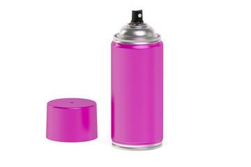 Pink spray paint can