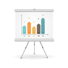 Flip chart business concept. Vector