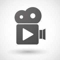 Cinema camera icon with a play sign