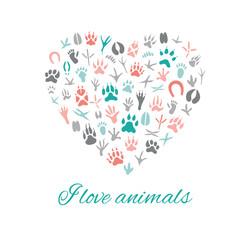 I love animals, Heart.
