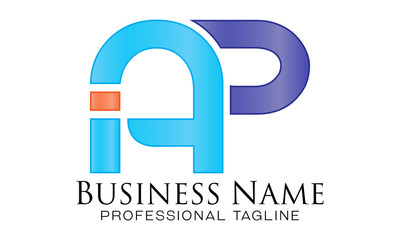 AP initials logo letter, vector design template elements for your application, corporate identity, business, etc