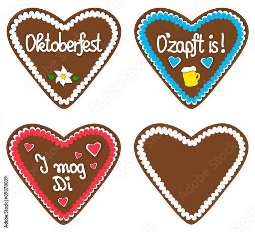 """""""set mit oktoberfestlebkuchen"""" stockfotos und lizenzfreie"""