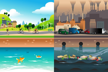 Healthy City Versus Polluted City