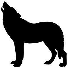 Vector silhouette of a wolf 4
