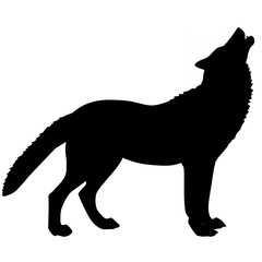silhouette of a wolf 3