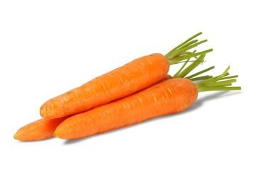 Three fresh carrots
