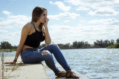 adolescente perfecto chica de al lado