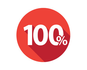 100 percent  discount sale red circle