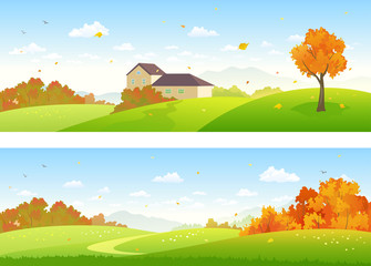 Autumn panoramic landscapes